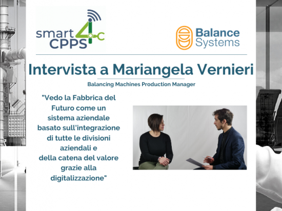SMART4CPPS – INTERVISTA A MARIANGELA VERNIERI, BALANCE SYSTEMS