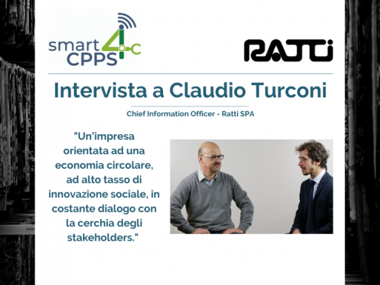SMART4CPPS – INTERVISTA A CLAUDIO TURCONI, RATTI SPA